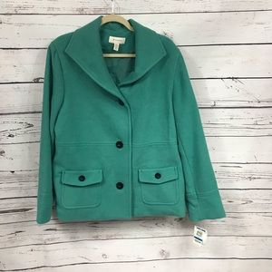 NEW JM Collection teal coat from Macy's